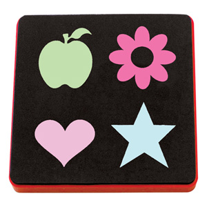AllStar heart, flower, star, apple